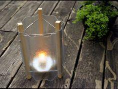 CorrugatedGlow Create sunset lighting with a fiberglass tea light lantern.