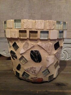 handmade mosaic flower pot by moZEHicDesigns on Etsy