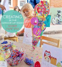 outdoor art studio | www.handmakery.com
