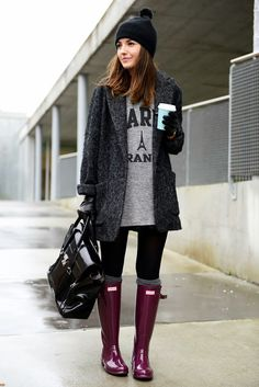 i never really liked rain boots but this outfit makes me warm up to the idea of getting some for this winter