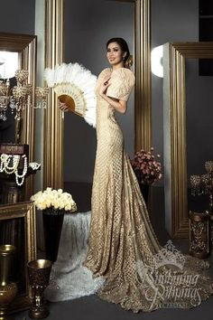 Filipiniana Wedding Gown Best Of Filipiniana Wedding Dress Luxury Pin by Sunshine Aguinaldo Debut Gowns, Debut Dresses, Gala Dresses, Prom Party Dresses, Dresses Art, Occasion Dresses, Modern Filipiniana Gown, Filipiniana Wedding Theme, Philippines Dress
