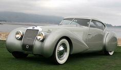 1937 Delage D8-120 - 'This car was commissioned by Louis Delage for the 1937 Paris Auto Show and as his personal car. The design was entrusted to Georges Paulin, principal stylist for coachbuilder Marcel Pourtout.'