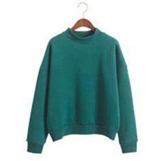 Women Hoodies Casual sweatshirt pullover candy coat jacket outwear Tops