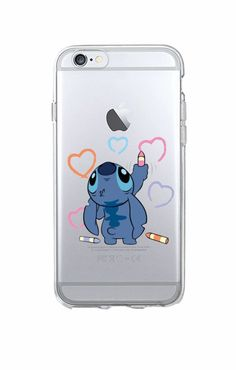 Funny Cute Stitch Cartoon Emoji Soft TPU Clear Phone Case Fundas Coque For iPhon. Diy Iphone Case, Iphone Phone Cases, Cellphone Case, Cute Stitch, Lilo And Stitch, Cute Cases, Cute Phone Cases, Clear Phone Cases, Coque Iphone 5c