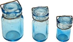 Glass Turquoise Canning Jar Set by Bright deLights