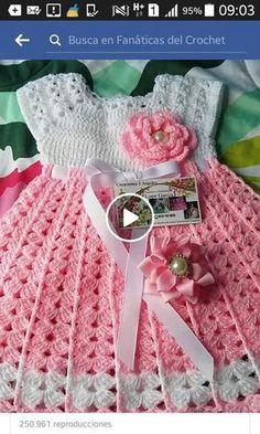 I Found These Elegant Crochet Bags . I Crochetbag - Crochet Tutorial - Best Knitting Crochet Baby Dress Pattern, Baby Dress Patterns, Baby Girl Crochet, Crochet Baby Clothes, Crochet For Kids, Baby Dress Tutorials, Crochet Patterns, Knitting Patterns, Crochet Beanie