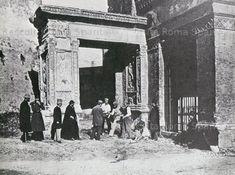Il gioco della morra – Arco degli Argentari e sulla destra la Chiesa di San Giorgio al Velabro Anno: (?)