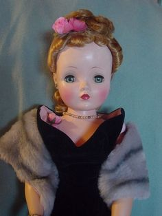 MADAME ALEXANDER USED VINTAGE HARD PLASTIC CISSY DOLL, CANDY SPELLING COLLECTIO
