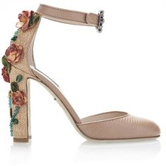 Shoes Rosa Printed Iguana and Raffia Floral Decal Heels (85.675 RUB) ❤ liked on Polyvore featuring shoes, pumps, heels, sapato, decorating shoes, embellished pumps, floral shoes, floral print pumps and floral pattern shoes