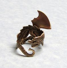 Fairy Tale Dragon Ring by ranaway on Etsy, $35.99