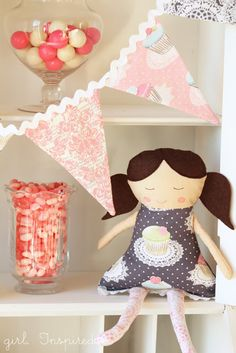 Make-A-Doll Pattern and Instructions - girl. Inspired.