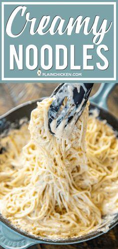 Creamy Noodles - Plain Chicken