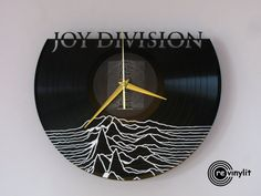 Joy Division clock vinyl record clock Joy Division by Revinylit