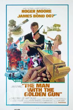 The Man with the Golden Gun Directed by Guy Hamilton. With Roger Moore, Christopher Lee, Britt Ekland, Maud Adams. Bond is led to believe that he is targeted by the world's most expensive assassin and must hunt him down to stop him. All James Bond Movies, James Bond Movie Posters, Film Posters, James Bond Theme, Roger Moore, Cinema Tv, I Love Cinema, Christoper Lee, Claude Barzotti