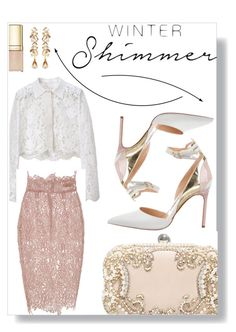 """""""Winter Shimmer"""" by sonny-m ❤ liked on Polyvore featuring Balenciaga, Blumarine, Manolo Blahnik, H&M, Ben-Amun and Dolce&Gabbana"""