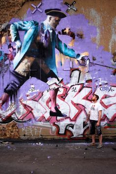 Les créations street art et les peintures de l'artiste irlandaisConor Harrington, basé à Londres. Avec un univers très fort et très baroque, à la fois m