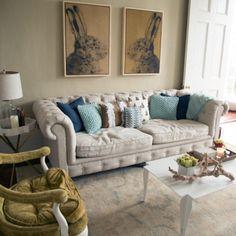 48 Beautiful Beachy Living Rooms  Coastal Living
