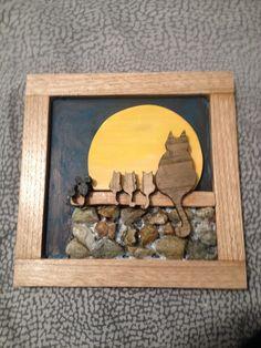 gatti e topini con la luna