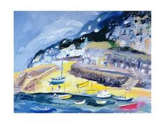 Mousehole, Cornwall, 2005 Giclee Print by Sophia Elliot at AllPosters.com