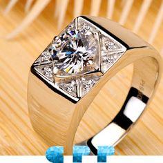 Huge Men's Diamond Rings | men engagement rings, engagement rings for men,mens ring,diamond ring ...