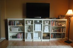 """Built-in"" Billy Bookcases - our first Ikea hack! - Redemptive Homemaking"