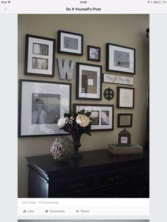 Wall gallery interior design house design decorating before and after designs Photowall Ideas, Diy Casa, Home And Deco, Home Projects, Living Room Decor, Sweet Home, New Homes, House Design, Wall Design