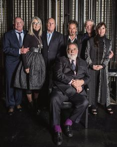 GODFATHER 45 years later in New York City  Francis Ford Coppola, James Caan, Diane Keaton, Robert Duvall, Al Pacino, Robert De Niro, Talia Shire - @tribeca closing Night of the Film Festival, they accepted this only one photo to be taken  @janetribeca ✨
