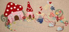 Duik in de fantasie van deze grillige vilt en borduurwerk quilt deken voor aan de muur, met levendige kleuren en schattige beelden. Fantastisch om je de kamer van je kleine op te vrolijken (of je eigen!). Grillige vilt en borduurwerk quilt deken, met bonus grote en kleine borduur versies van het ontwerp. Maat 110 x 50cm