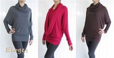 Made in USA Lux two way dolman Barbara sweater S to XL | Jane