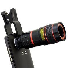 APEXEL Universal 8X Zoom Telescope Telephoto Camera Lens for Mobile Phone iPhone 4 5 6 Plus