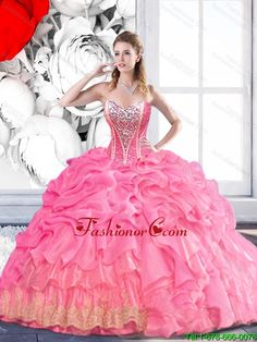 New Style Sweetheart 2015 Summer Quinceanera Dress with Beading and Pick Ups SJQDDT48002FOR