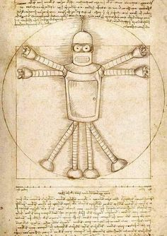 Futurama DaVinci Bender. Monty this one is for you!