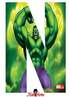 EUGENIA - KATIA ARTES - BLOG DE LETRAS PERSONALIZADAS E ALGUMAS COISINHAS: Alfabeto HULK Hulk 4, Hulk Marvel, Hulk Birthday Parties, Superhero Birthday Party, Superhero Classroom, Superhero Poster, Hulk Party, Avengers Birthday, Hulk Smash