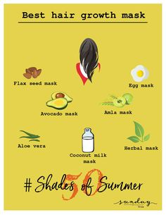 Who doesn't want to flaunt long and thick hair. Here are few hacks which will not only promote hair growth but also help in maintaining it. #sundaythespa #hairmask #Day15 #50shadesofsummer #hairtips #hairgrowth #goorganic #hairgrowthmask #getridofhairloss