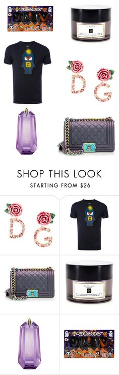 """""""pls like if u are going to use an item from my set"""" by alaa88 ❤ liked on Polyvore featuring Dolce&Gabbana, Fendi, Chanel, Jo Malone, Thierry Mugler and Tokidoki"""