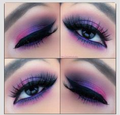 Eye make up Cute Eye Makeup, Purple Eye Makeup, Pretty Makeup, Skin Makeup, Purple Eyeshadow, Gorgeous Makeup, Makeup Trends, Makeup Inspo, Makeup Inspiration