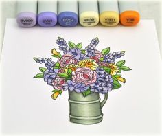 website has all colors for leaves and other flowers and finished card Copic Pens, Copic Art, Copic Sketch, Copics, Copic Marker Color Chart, Copic Markers Tutorial, Colouring Techniques, Color Pencil Art, Marker Art