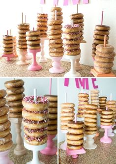 You have to see this DIY wedding donut bar! How adorable would this be at a Bridal Shower??