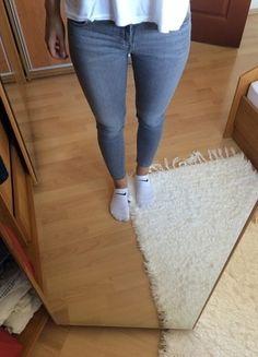 Kup mój przedmiot na #vintedpl http://www.vinted.pl/damska-odziez/rurki/14590009-szare-spodnie-rurki-34-zara
