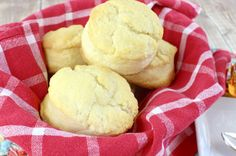 These 2-Ingredient Cream Biscuits are the easiest biscuits ever! Just self rising flour and heavy cream with some melted butter on top!