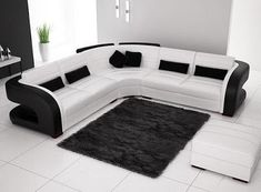 Black And White Sofa Set Designs For Modern Living Room Interiors (2) New  Catalogue For Modern Sofa Set Design Ideas For Modern Living Room Furniture  ...