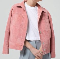 Pink suede jackets for Spring.
