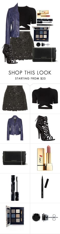 """Untitled #1327"" by fabianarveloc on Polyvore featuring Elie Saab, T By Alexander Wang, Balenciaga, Giuseppe Zanotti, Givenchy, Yves Saint Laurent, Shiseido, Bobbi Brown Cosmetics, Tory Burch and BERRICLE"