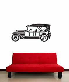 Wall Stickers Vinyl #Decal #Vintage Old Machine #Car i917 WallStickers4ever,http://www.amazon.com/dp/B00GZIX95O/ref=cm_sw_r_pi_dp_.UAMsb1AMJ0FE4TS