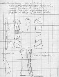 Pattern for a Corset c. 1800 (I suspect it's a decade later)  In the Collection of  the Ohio Historical Society