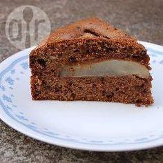 Rezeptbild: Versunkener Birnenkuchen mit Schokolade