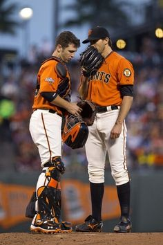 Barry Zito and Buster Posey.