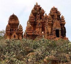 Ancient Cham Hindu towers in Vietnam