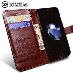 Tomkas case 대한 iphone 7/7 plus 지갑 플립 가죽 스탠드 전화 가방 커버 apple iphone 7 plus 케이스 coque 원래