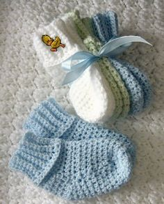 Crochet baby socks